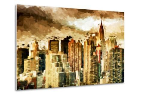 Golden Buildings - In the Style of Oil Painting-Philippe Hugonnard-Metal Print