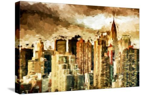 Golden Buildings - In the Style of Oil Painting-Philippe Hugonnard-Stretched Canvas Print