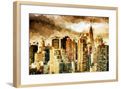 Golden Buildings - In the Style of Oil Painting-Philippe Hugonnard-Framed Art Print