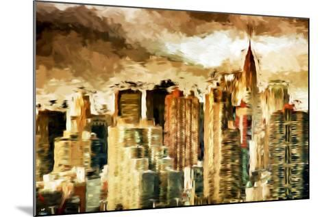 Golden Buildings - In the Style of Oil Painting-Philippe Hugonnard-Mounted Giclee Print
