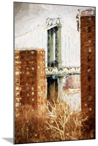 Manhattan Bridge - In the Style of Oil Painting-Philippe Hugonnard-Mounted Giclee Print