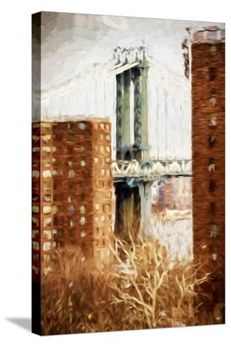 Manhattan Bridge - In the Style of Oil Painting-Philippe Hugonnard-Stretched Canvas Print