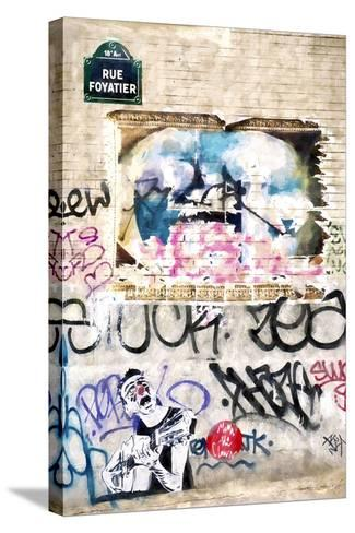 Street Art Paris-Philippe Hugonnard-Stretched Canvas Print