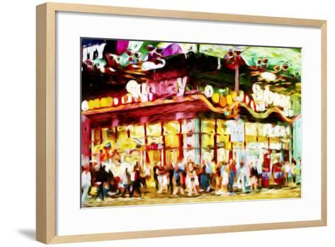 Manhattan Subway II - In the Style of Oil Painting-Philippe Hugonnard-Framed Art Print