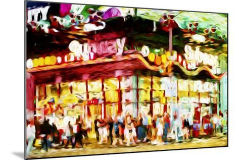 Manhattan Subway II - In the Style of Oil Painting-Philippe Hugonnard-Mounted Giclee Print