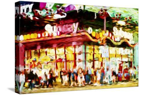 Manhattan Subway II - In the Style of Oil Painting-Philippe Hugonnard-Stretched Canvas Print