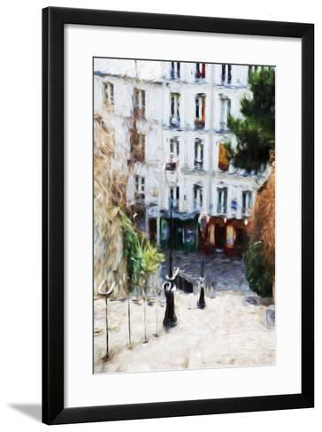 Paris Montmartre III - In the Style of Oil Painting-Philippe Hugonnard-Framed Art Print
