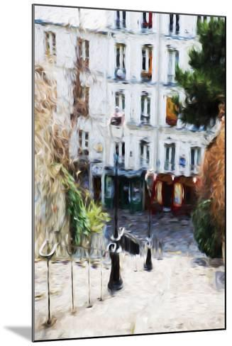 Paris Montmartre III - In the Style of Oil Painting-Philippe Hugonnard-Mounted Giclee Print