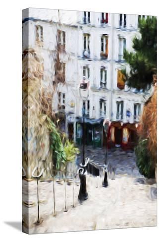 Paris Montmartre III - In the Style of Oil Painting-Philippe Hugonnard-Stretched Canvas Print