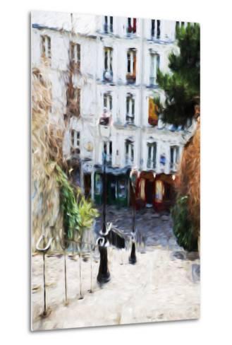 Paris Montmartre III - In the Style of Oil Painting-Philippe Hugonnard-Metal Print