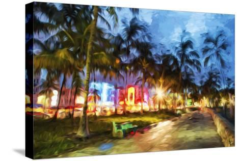 Night Walk - In the Style of Oil Painting-Philippe Hugonnard-Stretched Canvas Print
