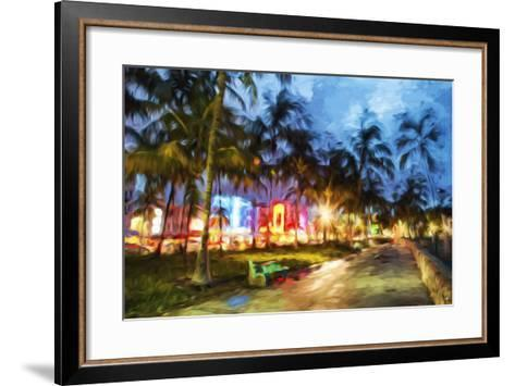Night Walk - In the Style of Oil Painting-Philippe Hugonnard-Framed Art Print
