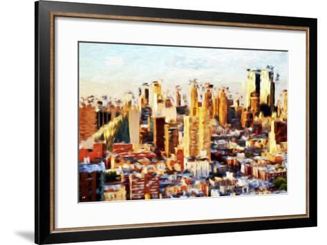 New York Cityscape II - In the Style of Oil Painting-Philippe Hugonnard-Framed Art Print
