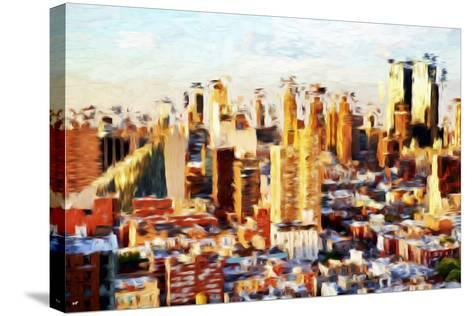 New York Cityscape II - In the Style of Oil Painting-Philippe Hugonnard-Stretched Canvas Print
