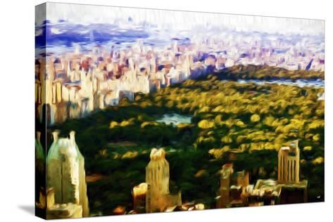 Central Park Skyline V - In the Style of Oil Painting-Philippe Hugonnard-Stretched Canvas Print