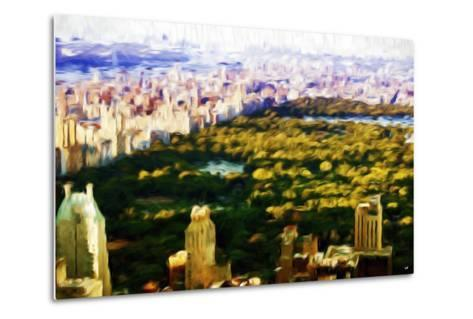 Central Park Skyline V - In the Style of Oil Painting-Philippe Hugonnard-Metal Print