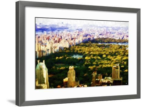 Central Park Skyline V - In the Style of Oil Painting-Philippe Hugonnard-Framed Art Print