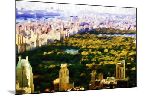 Central Park Skyline V - In the Style of Oil Painting-Philippe Hugonnard-Mounted Giclee Print