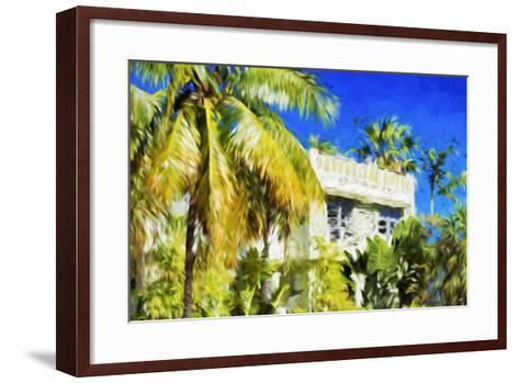 Miami Palms - In the Style of Oil Painting-Philippe Hugonnard-Framed Art Print