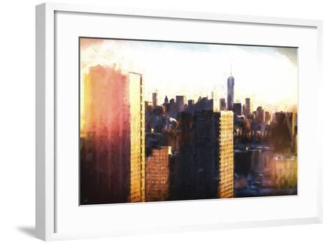 Manhattan Sunset Colors-Philippe Hugonnard-Framed Art Print