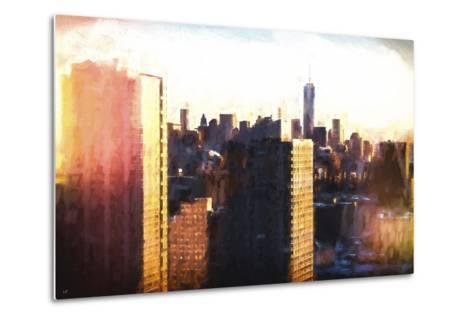 Manhattan Sunset Colors-Philippe Hugonnard-Metal Print