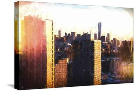 Manhattan Sunset Colors-Philippe Hugonnard-Stretched Canvas Print