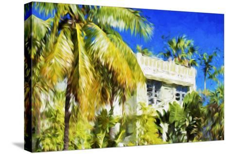 Miami Palms - In the Style of Oil Painting-Philippe Hugonnard-Stretched Canvas Print