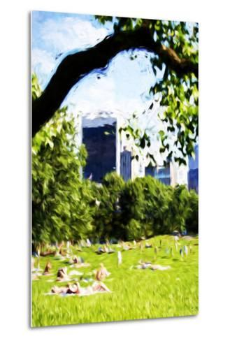 Central Park Summer IV- In the Style of Oil Painting-Philippe Hugonnard-Metal Print