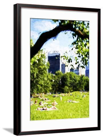 Central Park Summer IV- In the Style of Oil Painting-Philippe Hugonnard-Framed Art Print