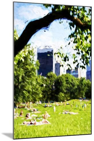 Central Park Summer IV- In the Style of Oil Painting-Philippe Hugonnard-Mounted Giclee Print