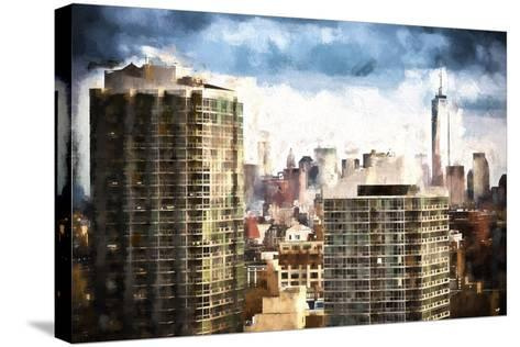 New York Downtown-Philippe Hugonnard-Stretched Canvas Print