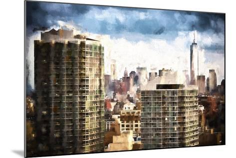 New York Downtown-Philippe Hugonnard-Mounted Giclee Print