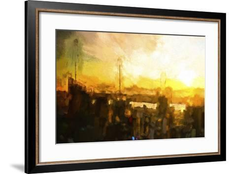 NYC Sunset Abstract III-Philippe Hugonnard-Framed Art Print