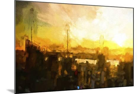 NYC Sunset Abstract III-Philippe Hugonnard-Mounted Giclee Print