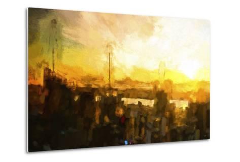 NYC Sunset Abstract III-Philippe Hugonnard-Metal Print