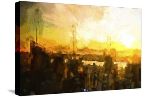 NYC Sunset Abstract III-Philippe Hugonnard-Stretched Canvas Print