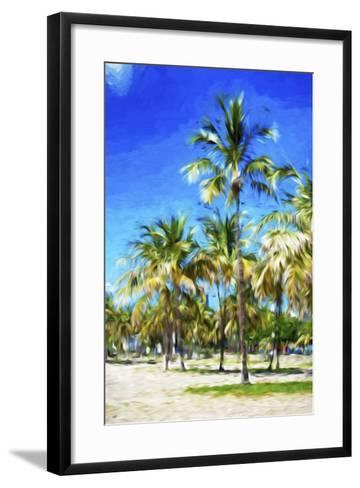 Miami Beach III - In the Style of Oil Painting-Philippe Hugonnard-Framed Art Print