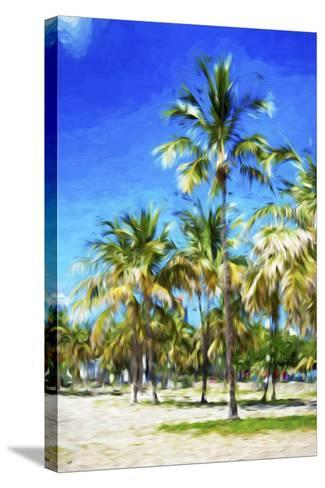 Miami Beach III - In the Style of Oil Painting-Philippe Hugonnard-Stretched Canvas Print