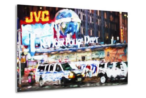 New York Police - In the Style of Oil Painting-Philippe Hugonnard-Metal Print