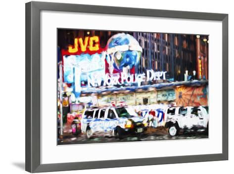 New York Police - In the Style of Oil Painting-Philippe Hugonnard-Framed Art Print