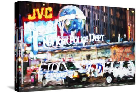 New York Police - In the Style of Oil Painting-Philippe Hugonnard-Stretched Canvas Print
