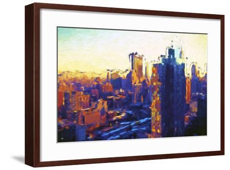 Colors Sunday - In the Style of Oil Painting-Philippe Hugonnard-Framed Art Print