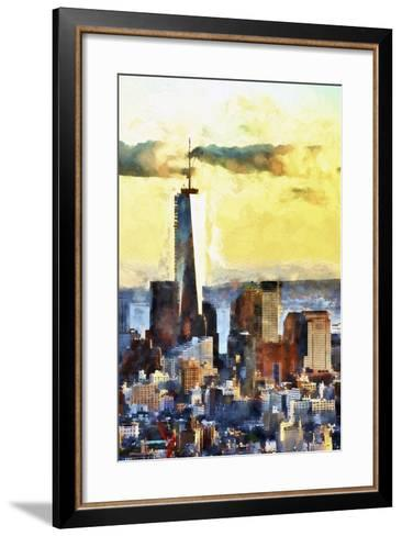 NYC Fiery Sunset-Philippe Hugonnard-Framed Art Print