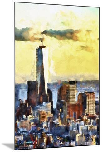 NYC Fiery Sunset-Philippe Hugonnard-Mounted Giclee Print