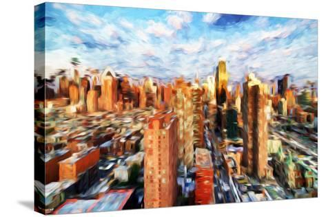 New York Cityscape IV - In the Style of Oil Painting-Philippe Hugonnard-Stretched Canvas Print