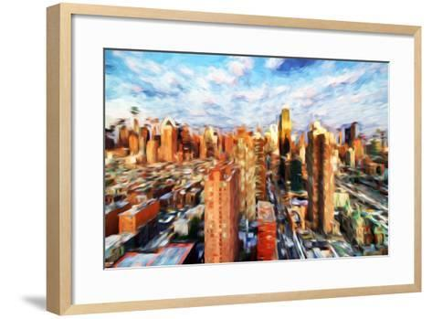 New York Cityscape IV - In the Style of Oil Painting-Philippe Hugonnard-Framed Art Print