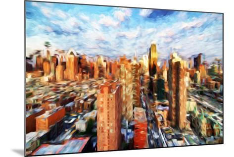 New York Cityscape IV - In the Style of Oil Painting-Philippe Hugonnard-Mounted Giclee Print