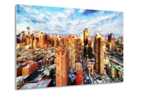 New York Cityscape IV - In the Style of Oil Painting-Philippe Hugonnard-Metal Print