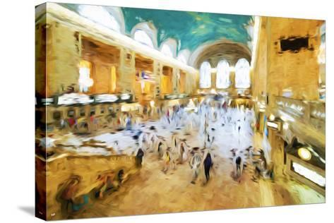 Grand Central Terminal II - In the Style of Oil Painting-Philippe Hugonnard-Stretched Canvas Print
