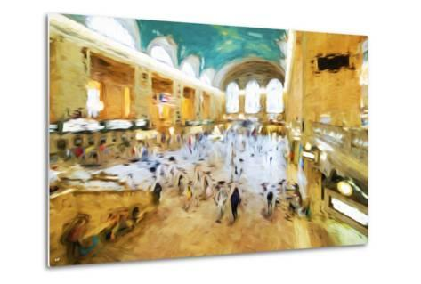 Grand Central Terminal II - In the Style of Oil Painting-Philippe Hugonnard-Metal Print